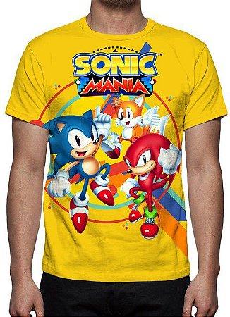 SONIC - Sonic Mania Amarela - Camiseta de Games
