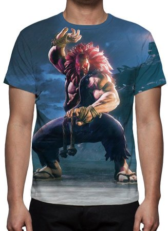 STREET FIGHTER 5 - Akuma - Camisetas de Games