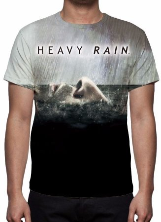 HEAVY RAIN - Rosto - Camiseta de games