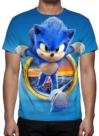 SONIC O FILME - Azul - Camiseta de Cinema