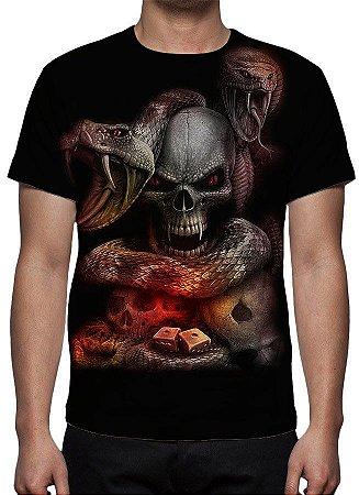 REAPER MORTE - Olhos de Serpente - Camiseta Variada