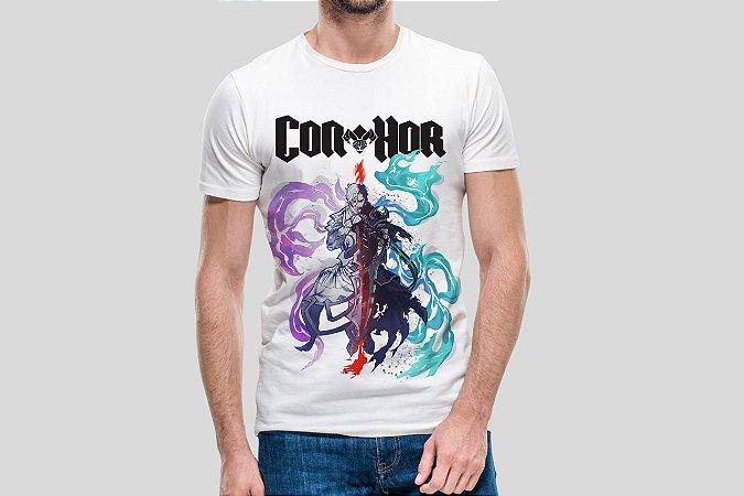 ÔMEGA COMICS - Con-Hor Ilustra - Camiseta de Parceiros