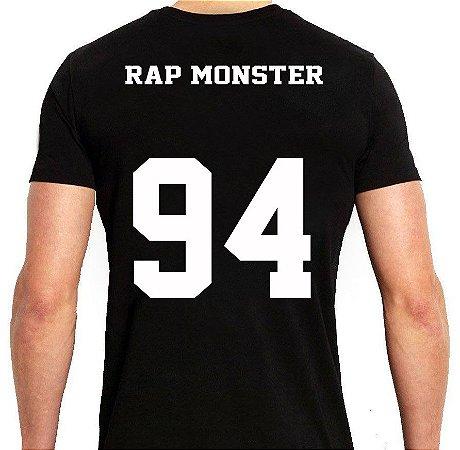 BTS Bantang Boys - Army Preta Rap Monster - Camiseta de Kpop