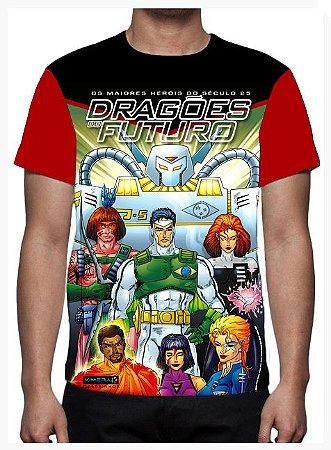 KIMERA  - Dragões do Futuro Capa 1 -  Camiseta de Heróis Brasileiros