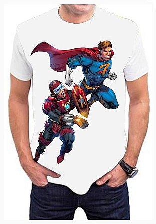 KIMERA - Capitão R.E.D & Capitão 7 - Camiseta de Heróis Brasileiros