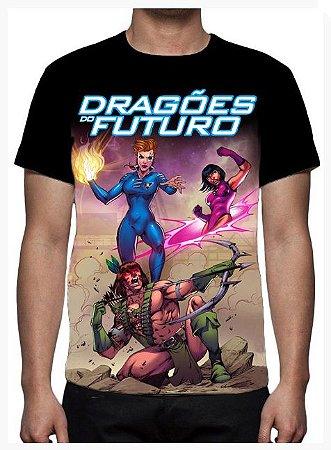 KIMERA  - Dragões do Futuro Capa 2 - Camiseta de Desenhos