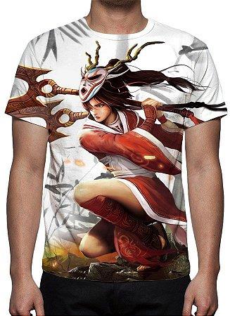 LEAGUE OF LEGENDS - Akali Lua Sangrenta - Camiseta de Games