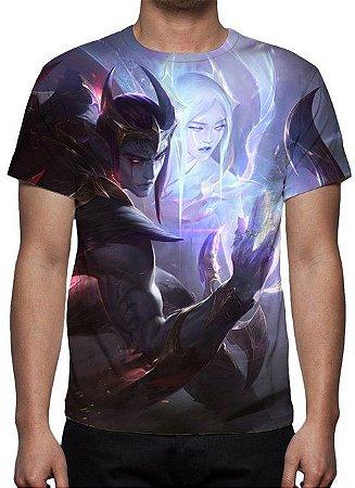 LEAGUE OF LEGENDS - Aphelios Emissário da Escuridão - Camiseta de Games