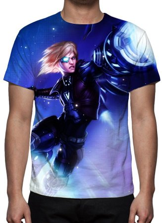 LEAGUE OF LEGENDS - Ezrael Pulsefire - Camiseta de Games