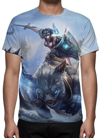 LEAGUE OF LEGENDS - Sejuani Ira do Inverno - Camiseta de Games