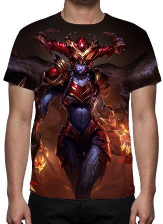 LEAGUE OF LEGENDS - Shyvana Meio Dragão - Camiseta de Games