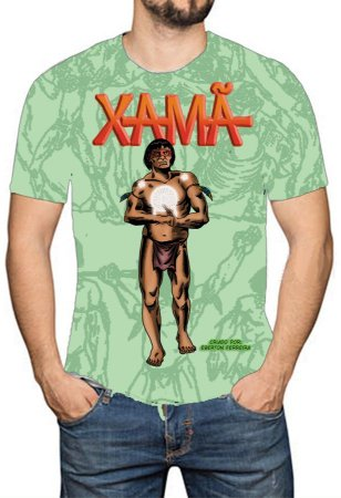 OS SE7E - Xamã - Camiseta de Heróis Brasileiros