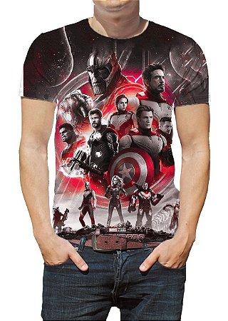 MARVEL - Vingadores Ultimato Vermelha - Camiseta de Cinema