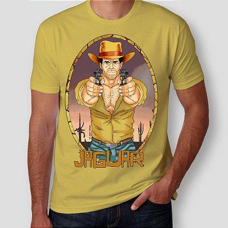 JAGUAR PISTOLEIRO - Pistolas Amarela - Camiseta de Heróis Brasileiros