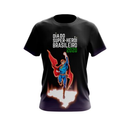DIA DO SUPER HEROI BRASILEIRO - Camiseta de Heróis Brasileiros