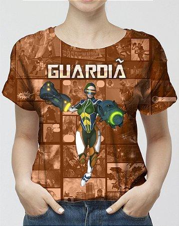 CADU ARTES - Fundação Amálgama Guardiã Marrom - Camiseta de Heróis Brasileiros