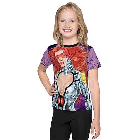 INVICTOS - Princesa Luz Por May Santos Roxa - Camisetas de Heróis Brasileiros