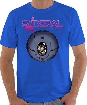 ARMON - Sideral Capsula de Sobrevivência Azul Lisa - Camiseta de Mangás Brasileiros
