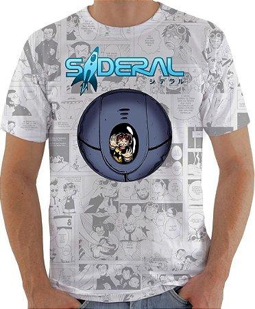 ARMON - Sideral Capsula de Sobrevivência Branca - Camiseta de Mangás Brasileiros