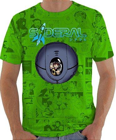 ARMON - Sideral Capsula de Sobrevivência Verde - Camiseta de Mangás Brasileiros