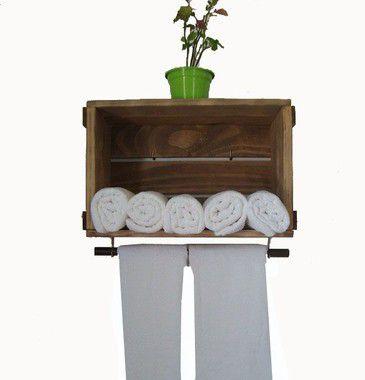 Caixotinho com Porta-toalhas