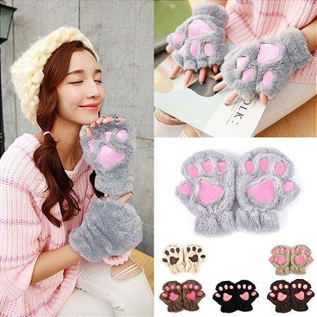 Luvas de patinhas de gato - 6 cores