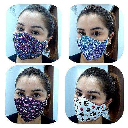 Máscara Dupla Face Lavável - Tripla Camada