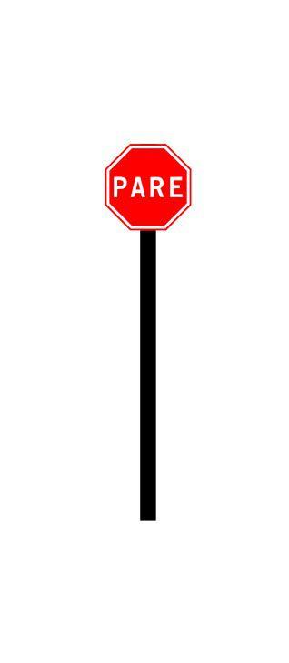 Placa de sinalização HO Parada obrigatória