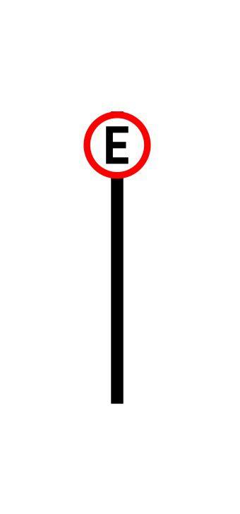 Placa de sinalização HO Permitido estacionar