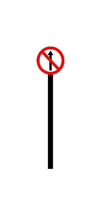 Placa de sinalização HO Proibido seguir