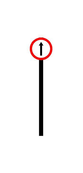 Placa de sinalização HO Siga em frente