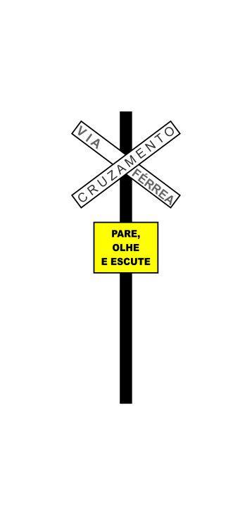 Placas de sinalização HO Via férrea - o par