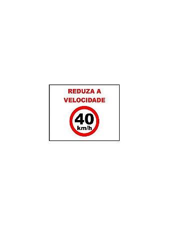 Placa de sinalização HO Reduza a velocidade