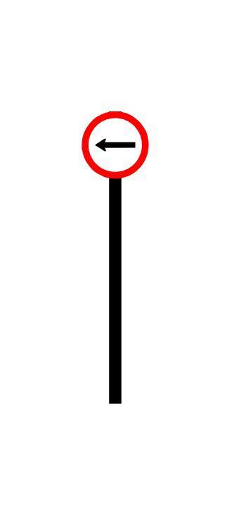 Placa de sinalização HO Vire à esquerda