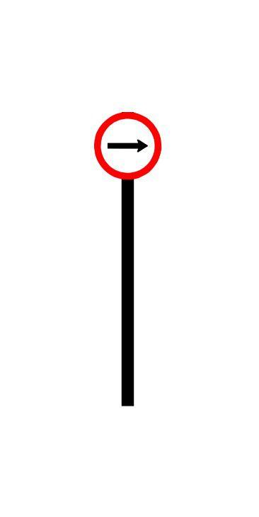 Placa de sinalização HO Vire à direita