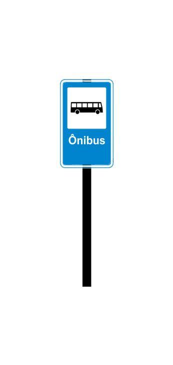 Placa de sinalização HO Ponto de ônibus