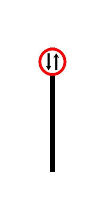 Placa de sinalização HO Mão dupla