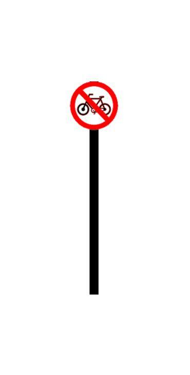 Placa de sinalização HO Proibido o trânsito de bicicletas