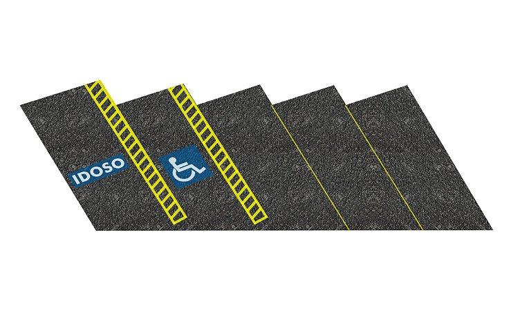 Adesivo estacionamento HO 5 vagas c/ placas (cód. 867)