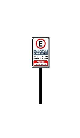 Placa de sinalização HO Obrigatório cartão azul