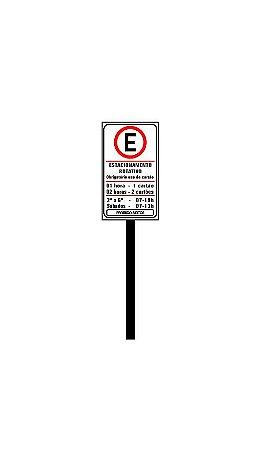 Placa de sinalização HO Estacionamento rotativo