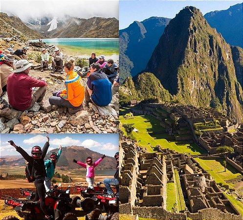 Mochilão Peru Aventura! Cusco, Rainbow Mountain, Lago Humantay e Machu Picchu. Pacote de 8 dias. Saídas diárias