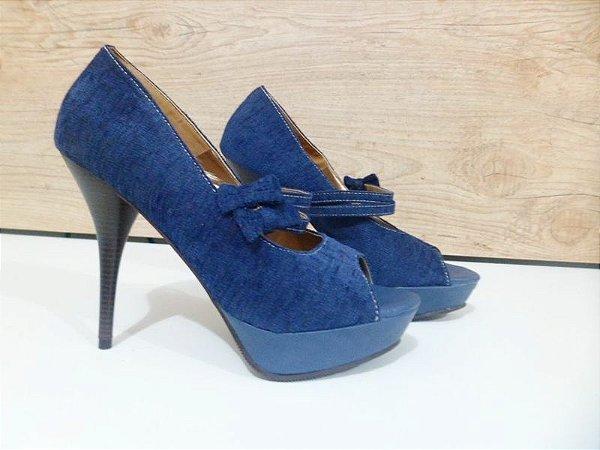 Peep Toe - Azul
