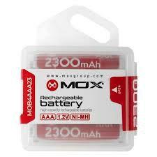 Pilha Mox Recarregável MO-AA2300 C/4