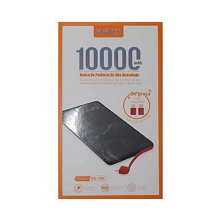 Bateria Auxiliar Power Bank KAIDI 10000 Mah KD-951