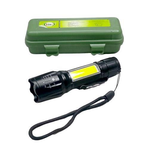Mini Lanterna Recarregável Led Usb Estojo
