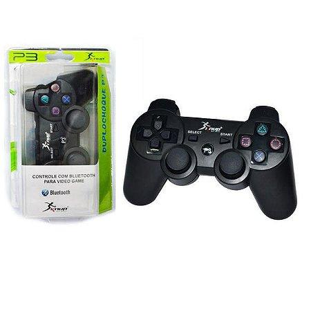 Controle PS3 S/Fio Duplo choque KP-4021