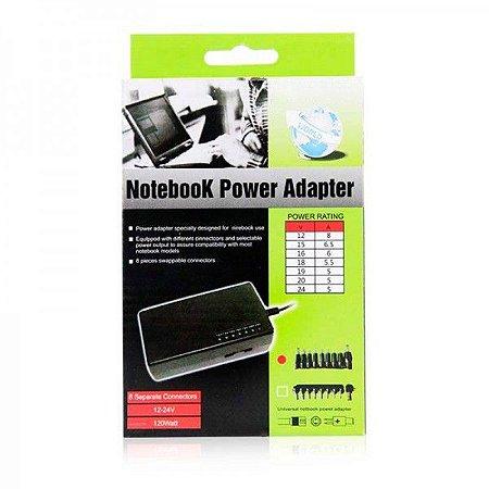 Fonte Carregador Universal Para Notebook 120W 12 - 24V MY-120W BIVOLT