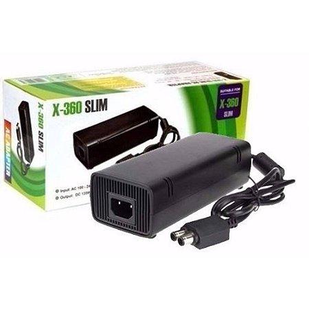 Fonte Para Xbox 360 Slim Bivolt 110v 220v 2 Pinos
