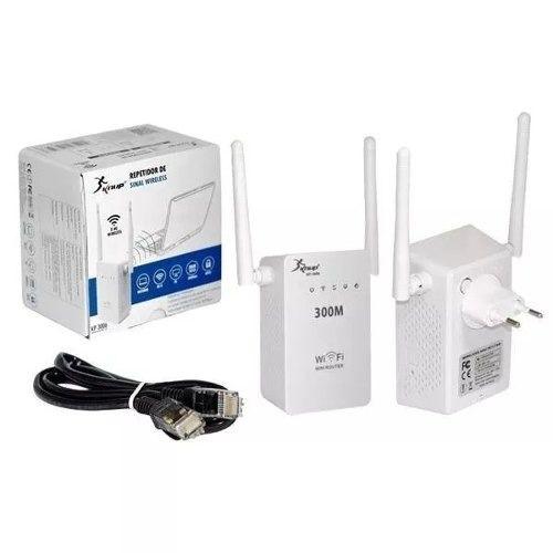 Repetidor Sinal Wirelles Duas Antenas 300 Mbps Kp-3006 Knup